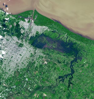 Satellite Eye on Earth: View of severe flooding in La Plata, Argentina