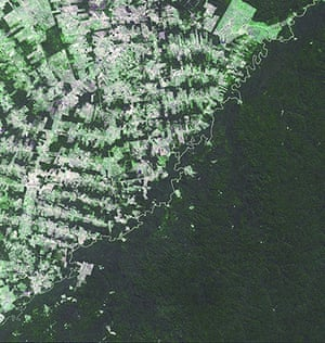 Satellite Eye on Earth: The river-delineated border betweemn Brazil and Bolivia