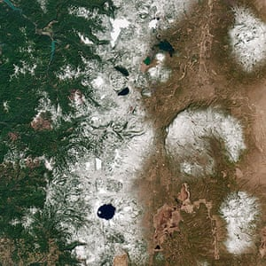 Satellite Eye on Earth: Cascade Mountains of the Pacific Northwest of North America