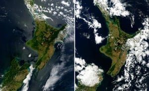 Satellite Eye on Earth: North Island in New Zealand