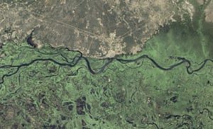 Satellite Eye on Earth:  Zambezi River