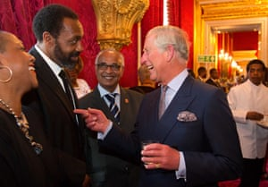 Prince Charles, The Prince of Wales and Camilla, The Duchess of Cornwall host a reception for British Caribbean Communities at St. James's Palace in London. The reception was attended by various members of British Caribbean Communities from the worlds of business, politics, sport, entertainment, charity and the media.