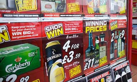 Alcohol on sale at an off-licence