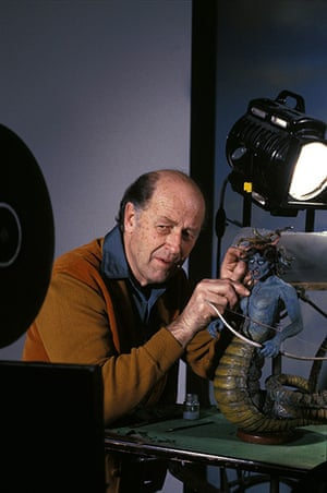 Ray Harryhausen obit: Working on a model from the film 'Clash Of The Titans' (1981)