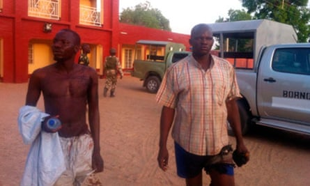 Injured policemen in Bama
