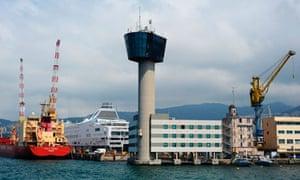 Genoa port tower