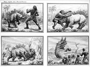 Ray Harryhausen: Ray Harryhausen storyboard for an unidentified film