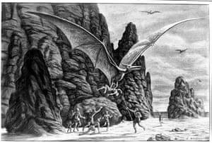 Ray Harryhausen: Ray Harryhausen storyboard illustration for One Million Years B C