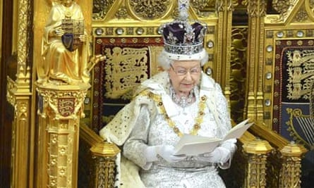 The Queen delivers her speech during the state opening of parliament