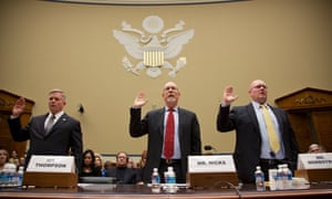 Mark Thompson, the state department's acting deputy assistant secretary for counterterrorism, Gregory Hicks, former deputy chief of mission in Libya, and Eric Nordstrom, the state department's former regional security officer in Libya testify on the Benghaszi attack on Capitol Hill
