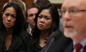 Family members of Americans killed in the Benghazi consulate attack listen as former deputy chief of mission in Libya, Gregory Hicks, testifies in Congress.
