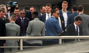 Manchester United players at Chester races