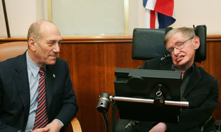 Stephen Hawking Ehud Olmert