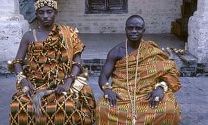 Asante paramount chiefs in kente