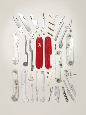Things Come Apart: Disassembled Swiss Army Knife