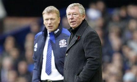 Soccer - David Moyes and Alex Ferguson File Photo