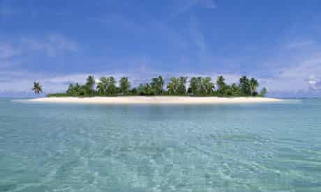 Tropical Island, Aitutaki Atoll, Cook Islands
