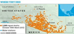 Death Map Of Deserts Aims To Save Lives Of Desperate Mexican - Us map deserts