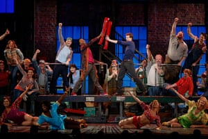 Tony awards: The cast of the best musical award winning show Kinky Boots perform during