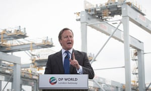 David Cameron speaks at London Gateway near Tilbury