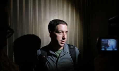 Guardian reporter Glenn Greenwald speaks to reporters at his hotel in Hong Kong. See his interview with NSA whistleblower Edward Snowden here.