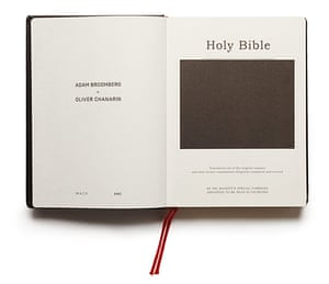 Broomberg and Chanarin : The title page from Adam Broomberg & Oliver Chanarin's Holy Bible, 2013
