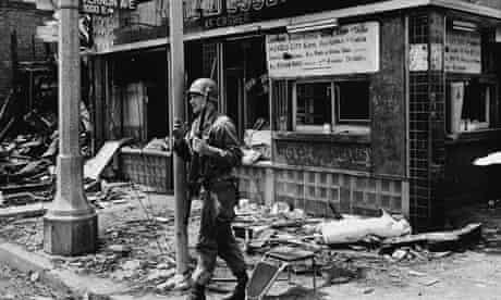 National Guardsman after Watts Riots, 1965