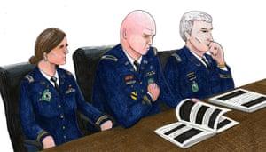 Bradley Manning: Captain Angel Overgaard, Captain Joe Morrow, Major Ashden Fein