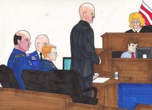 Bradley Manning: Bradley Manning at the defense table
