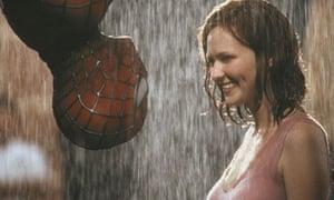 Actors Tobey Maguire and Kirsten Dunst in Spider-Man