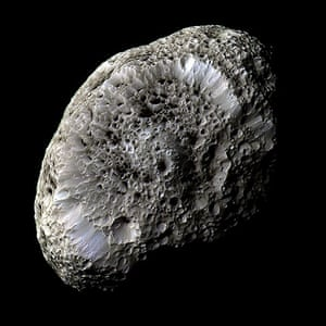 Visions of the universe: Hyperion taken from the orbiter spacecraft, 2005