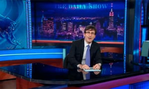 John Oliver at Jon Stewart's desk