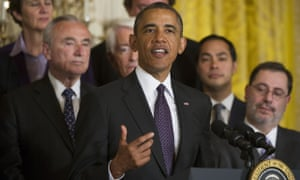 Barack Obama spoke in support of the bill on Tuesday morning
