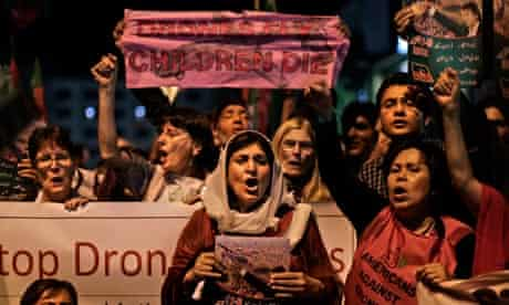 A protest in Islamabad against drone attacks in Pakistan's tribal belt