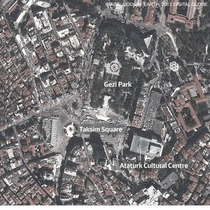 Taksim Square and Gezi Park in Istanbul