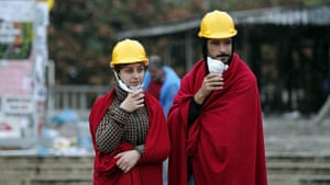 Turkey update: Two activists stay warm at Gezi Park following a night of continued clashes