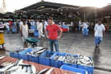 Jason Atherton at Deira Fish Market in Dubai