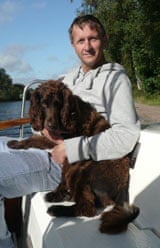 Rory Morrison and Max the spaniel