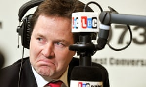 Nick Clegg is expected to be questioned about the Lib Dem report into the Lord Rennard controversy on LBC.