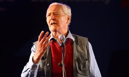 Tony Benn at the Glastonbury Festival Leftfield tent