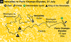 Stage 21 map