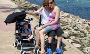 Neil Platt pictured with his wife Louise and son Oscar while on holiday in Minorca in 2008