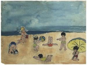 Judith Kerr: On the beach