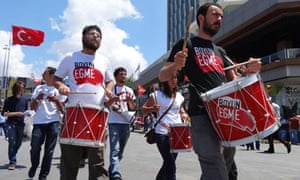 Drummers in Taksim Square
