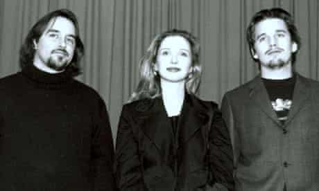 Richard Linklater (left) and his two stars back in 1995