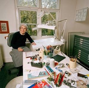 Judith Kerr: Judith Kerr at home in Barnes, London