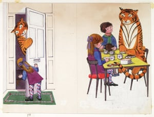 Judith Kerr: Original artwork from The Tiger Who came to Tea
