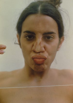 Photo Espana: Untitled (Glass on Body Imprints), 1972/1997. Color photograph (from a seri
