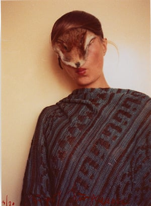 Photo Espana: Untitled (Self with Little Fur), 1974/77 by Birgit Jürgenssen