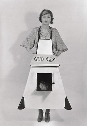 Photo Espana: Housewives' Kitchen Apron, 1975 by Birgit Jürgenssen